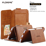 Floveme Brown Business Leather Phone Bag iPhone Case